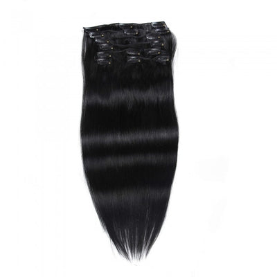 Ustar 100% Human Hair Quality Clip In Straight Hair Extensions #1