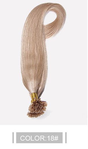 Ustar 100% Human Hair Quality U Tip Hair Extensions #18