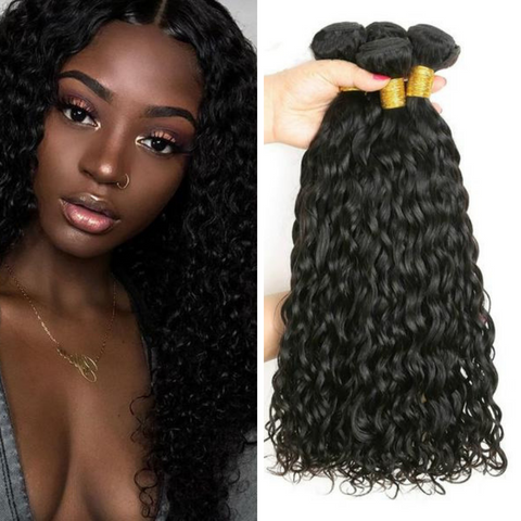 Ustar Virgin Hair 3 Bundles  Natural Black Water Wave
