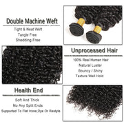 Ustar 100% UNPROCESSED Virgin Hair Bundles Natural Color Jerry Curly 8 inch to 30 inch