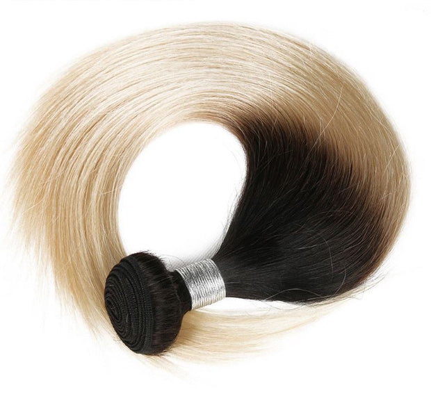 Ustar Mink Ombre Honey Blonde #1B/613 Straight 100% Human Hair