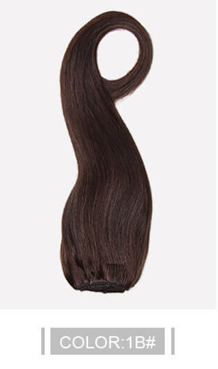 Ustar 100% Human Hair Quality Clip In Straight Hair Extensions #1B