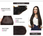 Ustar 100% Human Hair Quality I Tip Straight Hair Extensions #4