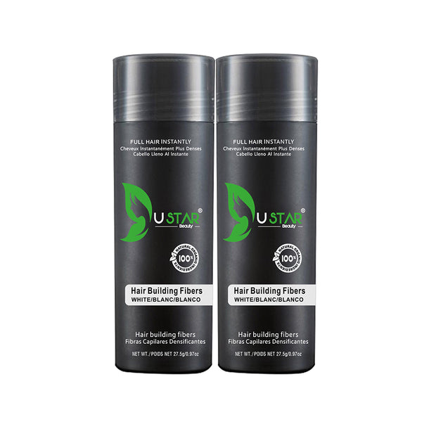 2 Pack - Ustar Hair Building Fibers .97oz