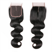 Ustar 100% Human Hair 4X4 Free Part & Middle Part Closure Body Wave