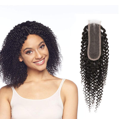 Deep Wave  2x6 Lace Closure Brazilian Virgin Human Hair Free Part Natural Color Closure (10-22 inch, Deep Wave Lace Closure)