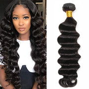 Ustar 12A Unprocessed Hair Extra Thick Deep Wave 100 Virgin Remy Human Natural Black
