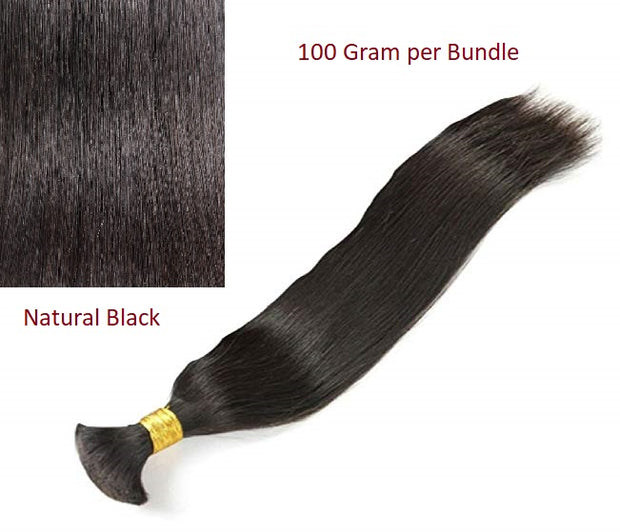 Unprocessed Bulk 100 Virgin Remy human Hair Straight, Body Wave, Deep Wave and Jerry Curl 100g/Bundle