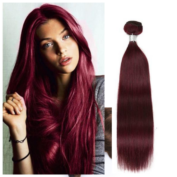 Ustar #99J  Burgundy  Straight 100% Human Hair