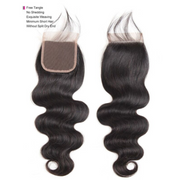 Ustar 100% Human Hair 4X4 Free Part CLOSURE Body Wave