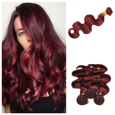 Ustar #99J Burgundy Body Wave 100% Virgin Hair