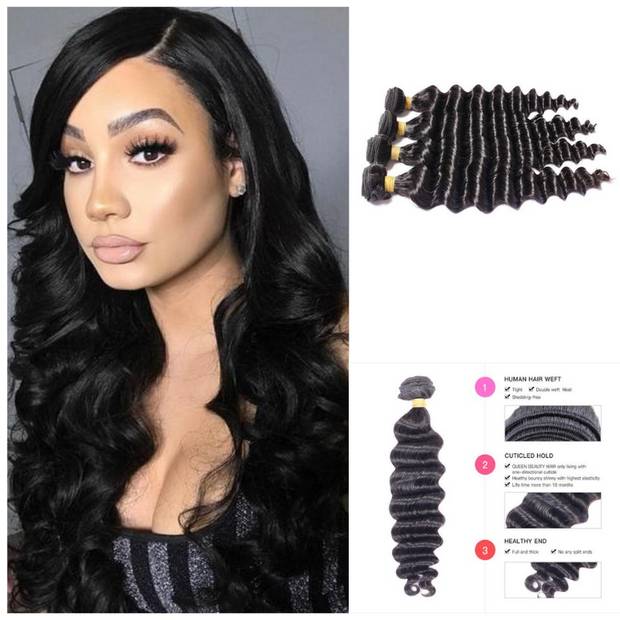 Ustar Virgin Hair 4 Bundles Loose Wave