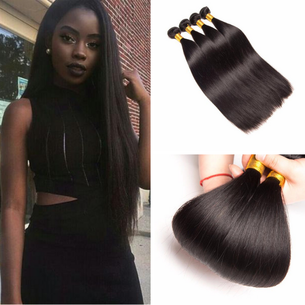 Ustar Virgin Hair 4 Bundles Straight