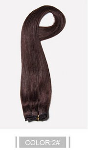 Ustar 100% Human Hair Quality Clip In Straight Hair Extensions #2