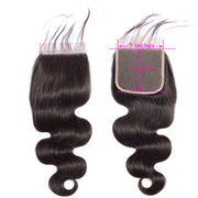 Body Wave Lace Closure 5x5 Lace Closure Brazilian Virgin Human Hair Free Part Natural Color Closure (10-22 inch, Body Wave Lace Closure)