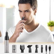 BESTOPE Nose Hair Trimmer 4 in 1 USB Nose Hair Trimmer Rechargeable Nose/Ear Hair Trimmer Hair Trimmer Nose/Beard Trimmer Eyebrow Trimmer Water Repellent with USB Cable for Men (Black)