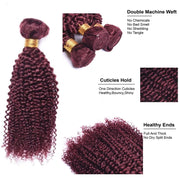 Ustar  #99J Burgundy Jerry Curly 100% Virgin Hair