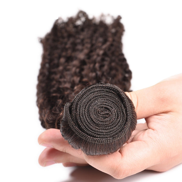 Ustar Medium Brown #4  Kinky Curly  100% Human Hair