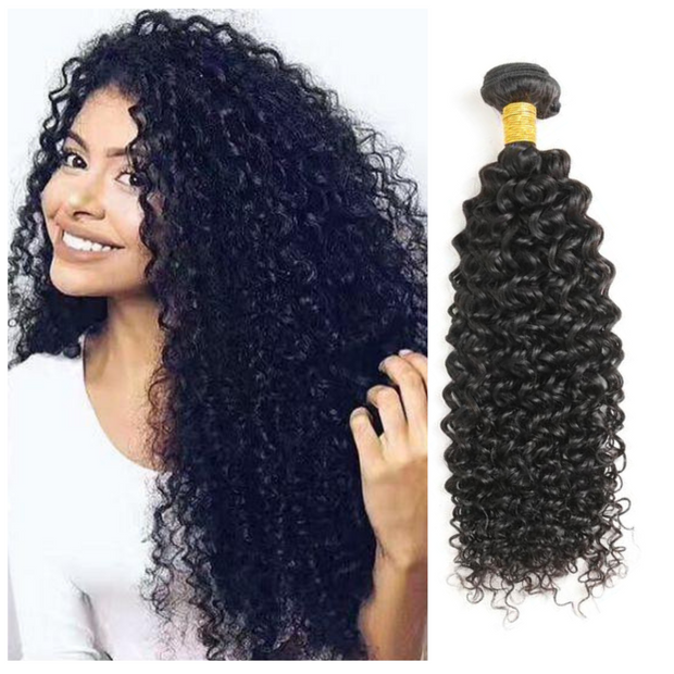 Ustar Economy 100% Human Hair bundle Natural Black color Jerry Curly  One bundle Deal 10 in to 30 Inch