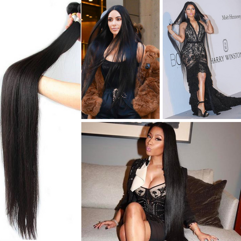 Ustar Super Long 100% Virgin Remy High Quality Human Hair 32 inch to 56 Inch