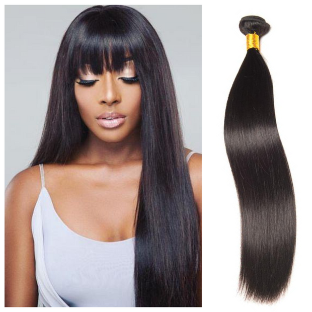 Ustar Affordable 100% Remy Human Hair Natural Black Straight One Bundle Deal 10 in to 30 in