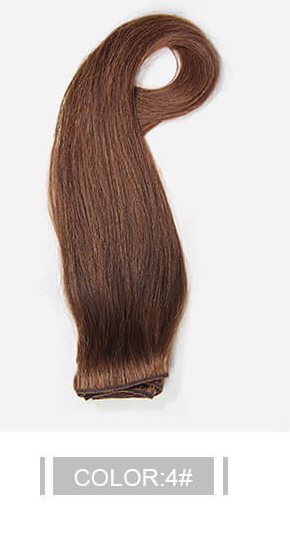 Ustar 100% Human Hair Quality Clip In Straight Hair Extensions #4