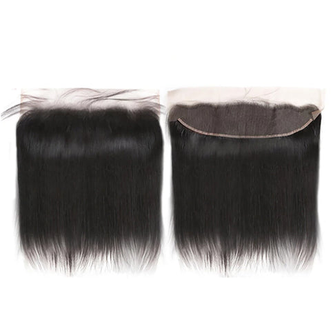 "Brazilian Virgin Hair  13""x4"" HD Lace Frontal 130% Density Free Part Bleached Knots Baby Hair Lace Frontal Piece 16""--22"" inch"