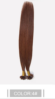 Ustar 100% Human Hair Quality U Tip Straight Hair Extensions #1B