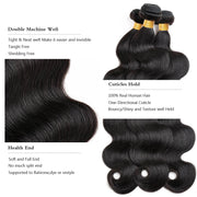 Ustar Affordable 100% Remy Human Hair bundle Natural Black color Body Wave One bundle Deal 10 in to 30 in