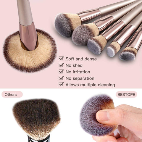 On Sale: BESTOPE 20 PCs Makeup Brushes  &   BESTOPE Blackhead Remover 6 in 1 Pimple Comedone Extractor Tool  (Total 26 Pieces)
