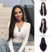 Ustar Lace Frontal Wig  150% Density  Straight  Natural Black Hair