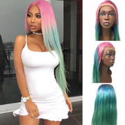 Ustar Lace Frontal Wig Hot 3 TONE color, 150% Density Straight Hair