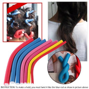 10pcs/Pack Professional Flexi Hair Roller Foam Curler Set Twist Curls Flex Rods