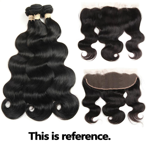 "On Sale: Ustar Natural Black Virgin Straight ,Body Wave, Deep Wave, Natural Wave, Loose Wave with Jerry Curly 8""10""12""Bundle With 10""Frontal"