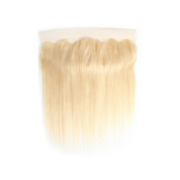 613 Honey Blonde Straight Human Hair 13x4 Lace Frontal Free Part