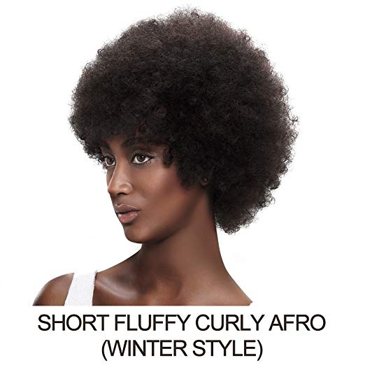 Afro kinky Curly Short Human Hair Wig  #2