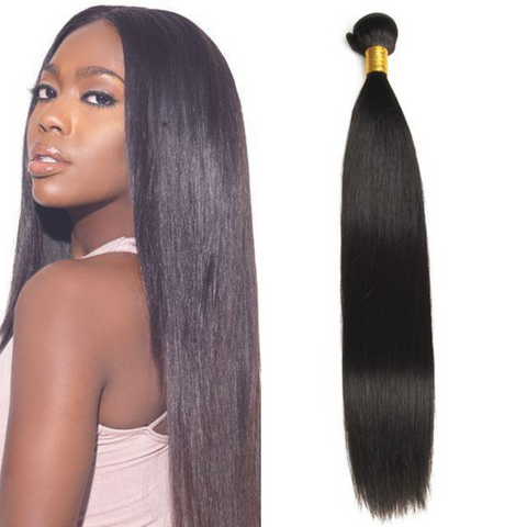 Ustar Mink Hair Straight Extra Thick and 100% Virgin Remy Human Hair Natural Black