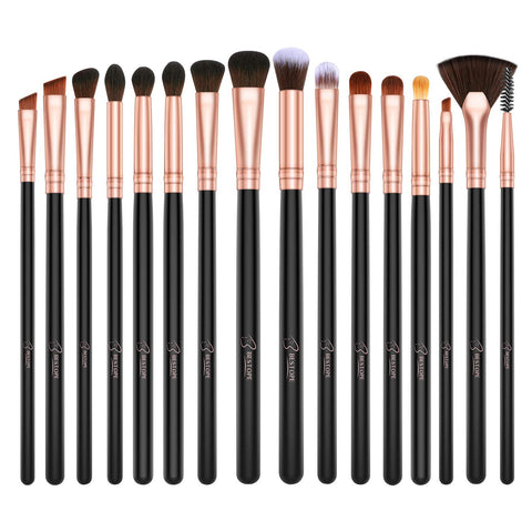 BESTOPE Eye Makeup Brushes, 16 Pcs Professional Eye Brush Set Cosmetics Brushes, Eye Shadow, Concealer, Eyebrow, Foundation, Powder Liquid Cream Blending Make Up Brushes with Premium Wooden Handles