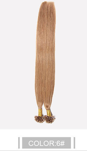 Ustar 100% Human Hair Quality U Tip Straight Hair Extensions #1