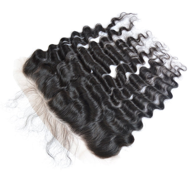 Ustar 100% Human Hair 13x6 Lace Free Part Frontal Deep Wave