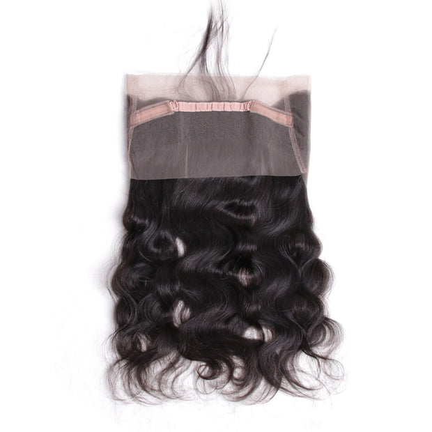 Ustar 100% Human Hair 360 Lace  CLOSURE Body Wave