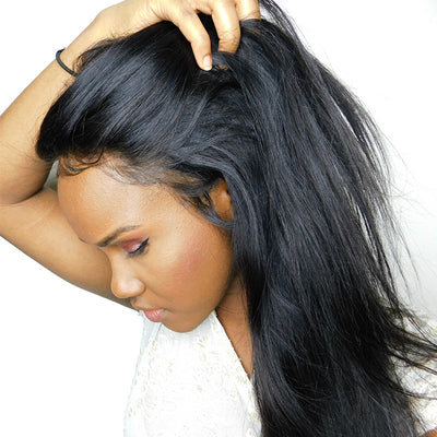 Ustar 100% Human Hair 360 CLOSURE Straight