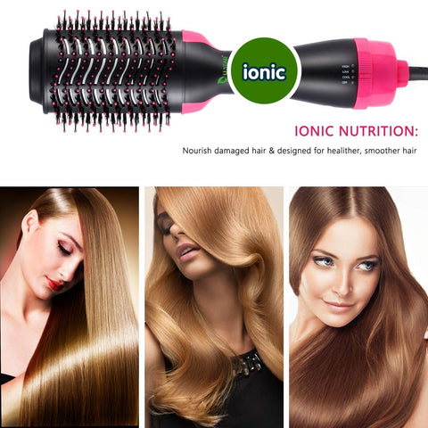 Ustar Hair Dryer One-Step Hair Dryer & Volumizer Styler, Comb 3-in-1 Negative Ions Hot Air Brush with 3 Heat Level