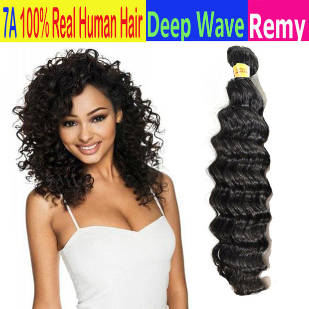 Ustar 100% Virgin Remy hair Bundles Natural color Deep Wave 8 inches to 30 inches