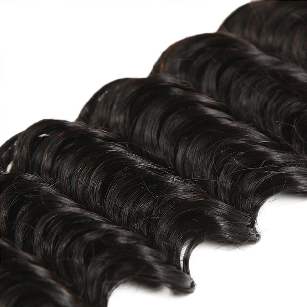 Ustar 100% UNPROCESSED Virgin Hair Bundles Natural Color Deep Wave 8 inch to 30 inch