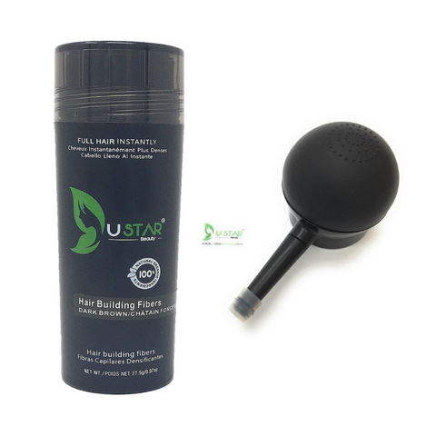 Hot Sale Ustar Hair Building Fibers 0.97oz / 27.5g and Free Applicator