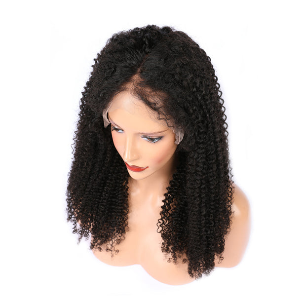 Ustar Lace Frontal WIG Jerry Curly BOB 150% Density Virgin Human Hair