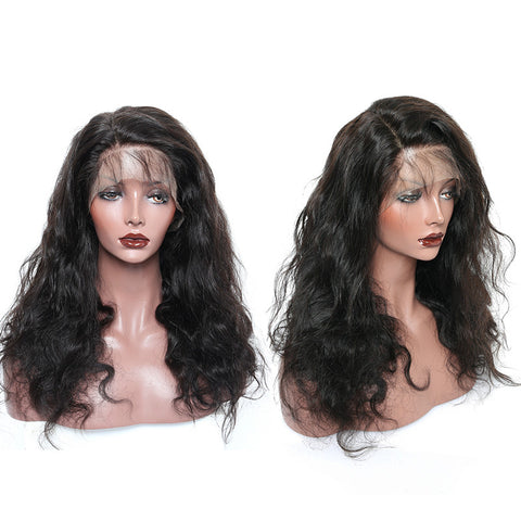 Usatr Full Lace Wig 150% Density Body Wave Natural Black