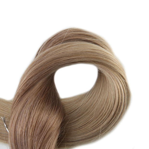 Ustar 100% Human Hair Quality I Tip Straight Hair Extensions #12