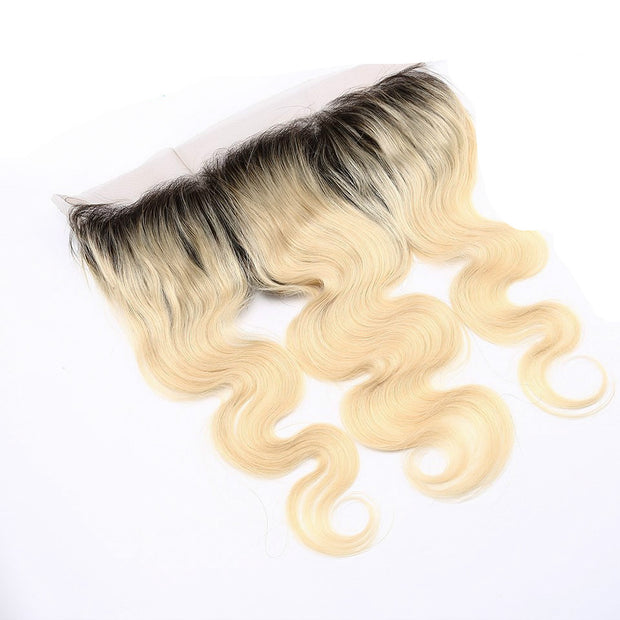 1B/613 Ombre  Honey Blonde Body Wave Human Hair 13x4 Lace Frontal